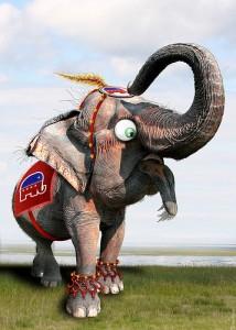 rouge elephant